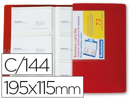 Tarjetero rojo para 144 tarjetas