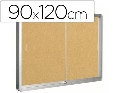vitrina con tablero de corcho