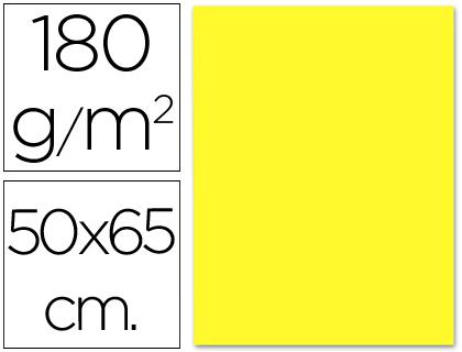 Cartulina amarilla de 50 x 65 cm (Pack 5 unds)