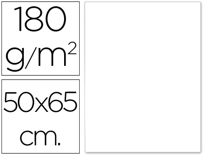 Cartulina blanca de 50 x 65 cm (Pack 5 unds)