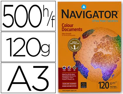 Papel 120 grs A-3 Navigator paqt. de 500 hojas