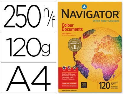 Papel 120 grs A-4 Navigator paqt. de 250 hojas