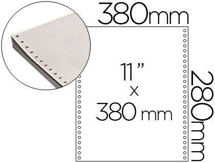 "Papel continuo blanco original 380 mm x 11"" caja de 2500 hojas"