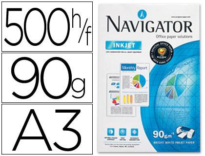 Papel A-3 Navigator 90 grs paqt. de 500 hojas