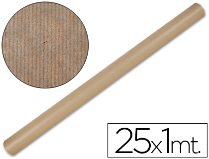 Papel de embalaje rollo de 1 x 25 metros Kraft natural