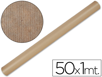Papel de embalaje Kraft natural rollo de 1 x 50 metros