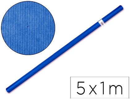 Papel de embalaje Azul rollo de 1 x 5 metros