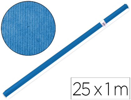 Papel de embalaje Azul rollo de 1 x 25 metros