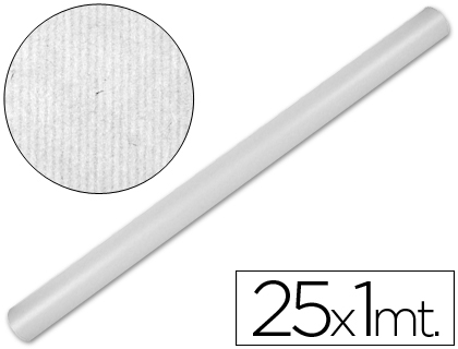 Papel de embalaje Blanco rollo de 1 x 25 metros