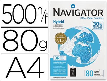 Papel reciclado Navigator Hybrid A-4 80 grs. 500 hojas