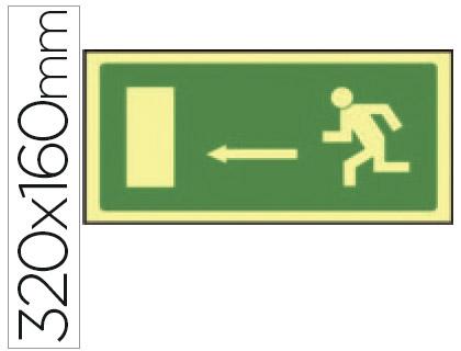 Pictograma salida de emergencia Izquierda