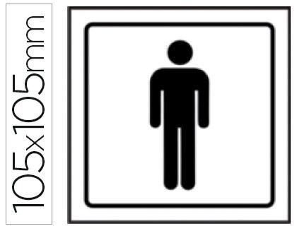 pictograma aseos caballeros