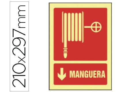 pictograma de manguera fotoluminiscente