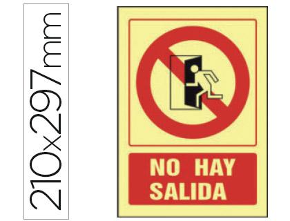 pictograma de no hay salida