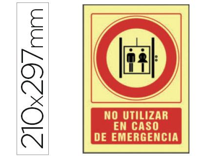 pictograma de no utilizar en caso de emergencia
