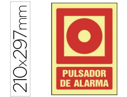 pictograma de pulsador de alarma