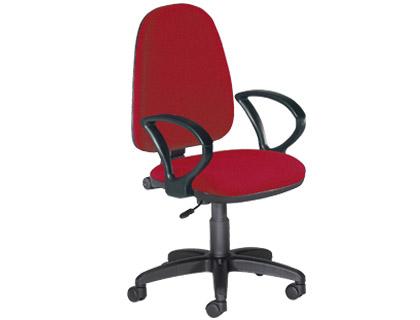 silla de oficina burdeos
