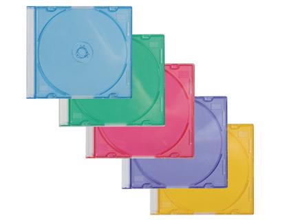 Caja para CD Slim 5 colores surtidos 25 unds