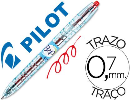 Bolígrafo Pilot B2P retráctil tinta gel rojo