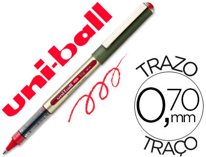 Bolígrafo Uni-Ball UB-157 Eye rojo