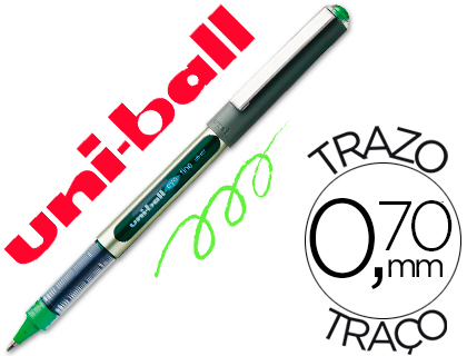 Bolígrafo Uni-Ball UB-157 Eye verde claro
