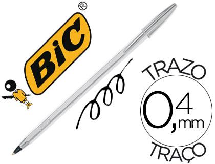 bolígrafo bic plateado