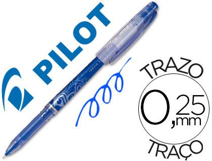 Bolígrafo borrable Frixion Pilot azul tinta gel