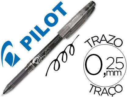 Bolígrafo borrable Frixion Pilot negro tinta gel