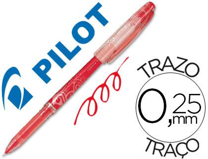 Bolígrafo borrable Frixion Pilot rojo tinta gel