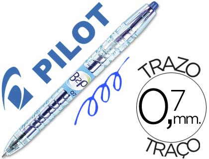 Bolígrafo Pilot B2P retráctil tinta gel azul