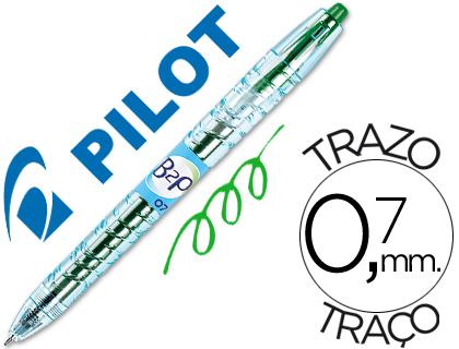 Bolígrafo Pilot B2P retráctil tinta gel verde