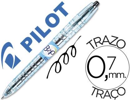 Bolígrafo Pilot B2P retráctil tinta gel negro