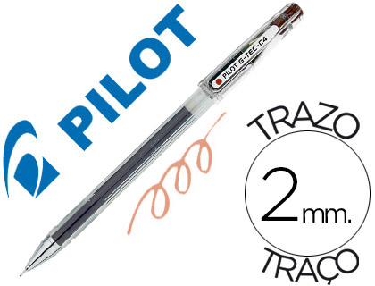 Bolígrafo Pilot G-TEC-C4 punta aguja sepia