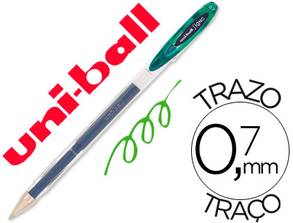 Bolígrafo Uni Ball UM-120 Signo tinta verde