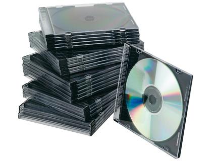 Caja para CD slim transparente (25 und)