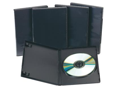 Caja para DVD con interior negro (5 unidades)