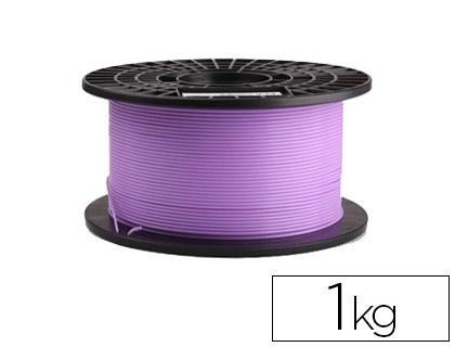 filamento impresora 3d pla morado 1 kg