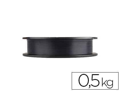 filamento 3d pla negro 500 grs