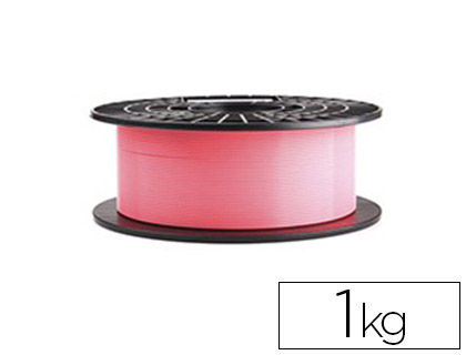 filamento impresora 3d pla rosa 1 kg