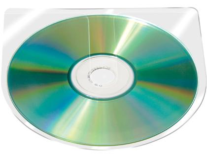 Funda para CD autoadhesiva sin solapa (10 unid)