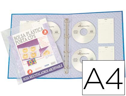 Funda para CD con etiqueta y multitaladro (pack de 3 unds)