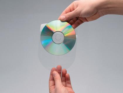 Funda para cd/dvd autoadhesiva con solapa (10 unid)