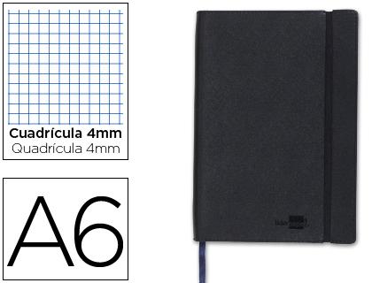 libreta encolada Din A6 negra