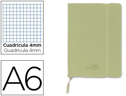 libreta encolada Din A6 verde