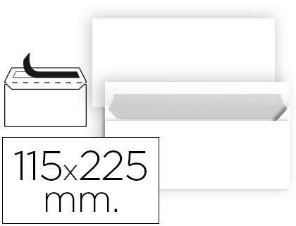 Sobre americano blanco 115 x 225 mm sin ventana 10 unds.