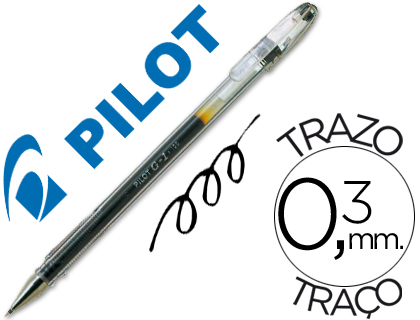 Bolígrafo Pilot G-1 tinta gel negra