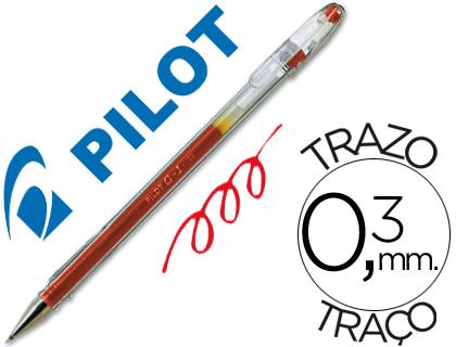 Bolígrafo Pilot G-1 tinta gel roja