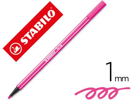 rotulador stabilo rosa