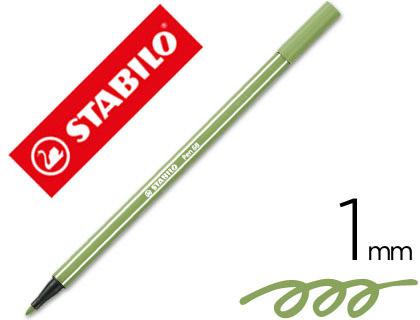 rotulador stabilo verde
