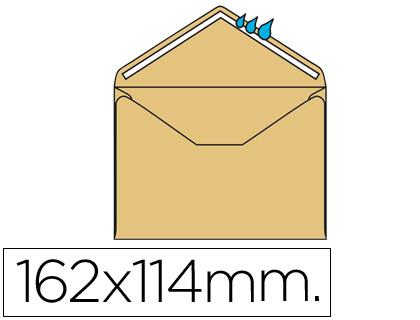Sobre CREMA 114x162 mm engomado Caja de 500